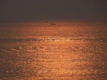 Salida del sol Océano Atlántico Santa Catarina Imagenes de archivo