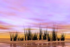 Salida del sol oriental Imagen de archivo libre de regalías