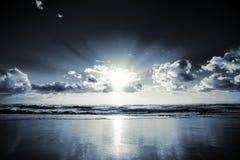 Salida del sol oscura Foto de archivo