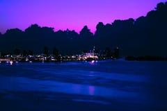 Salida del sol púrpura Imágenes de archivo libres de regalías
