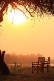 Salida del sol pacífica Fotos de archivo libres de regalías