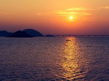 Salida del sol pasada 2016 Imagenes de archivo