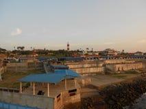 Salida del sol, puesta del sol, comorin del cabo, Kanyakumari, Tamilnadu Foto de archivo