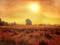 Salida del sol/puesta del sol con la luz de oro Imagenes de archivo