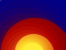 Salida del sol, puesta del sol Imágenes de archivo libres de regalías