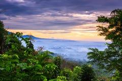 Salida del sol Punthun Setumbu foto de archivo libre de regalías