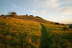 Salida del sol Ring Mountain - trayectoria Imágenes de archivo libres de regalías