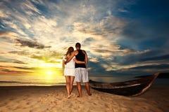 Salida del sol romántica Foto de archivo libre de regalías