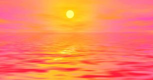 Salida del sol rosada libre illustration