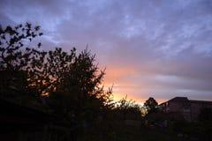 Salida del sol rumana Fotografía de archivo
