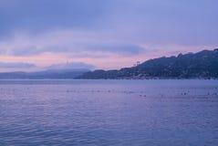 Salida del sol Sausalito Imagen de archivo libre de regalías