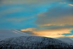 Salida del sol septentrional de Noruega Foto de archivo libre de regalías