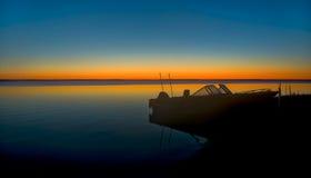 Salida del sol septentrional del lago michigan Fotografía de archivo