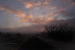 Salida del sol soñadora Fotografía de archivo