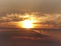 Salida del sol sobre Atlántico Fotografía de archivo libre de regalías