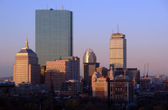 Salida del sol sobre Boston Imagen de archivo libre de regalías