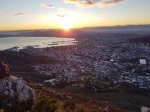 Salida del sol sobre Ciudad del Cabo Imágenes de archivo libres de regalías