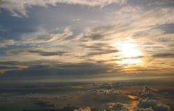 Salida del sol sobre cloudscape Imágenes de archivo libres de regalías