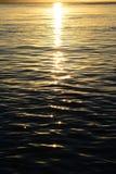Salida del sol sobre el agua Fotografía de archivo libre de regalías