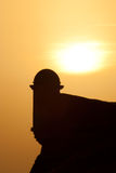 Salida del sol sobre el Castillo de San Marcos Fotos de archivo