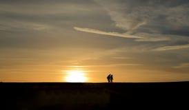 Salida del sol sobre el Cobb imagen de archivo libre de regalías