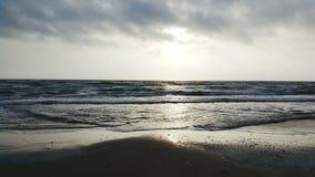 Salida del sol sobre el golfo Imágenes de archivo libres de regalías