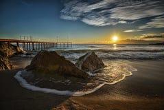 Salida del sol sobre el mar Fotografía de archivo
