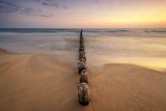Salida del sol sobre el mar Báltico Imágenes de archivo libres de regalías