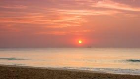 Salida del sol sobre el mar del Caribe Fotografía de archivo