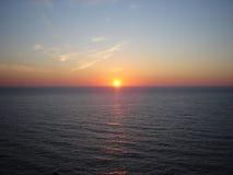 Salida del sol sobre el Mar del Norte Fotografía de archivo libre de regalías