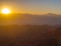 Salida del sol sobre el Mar Rojo Fotos de archivo libres de regalías