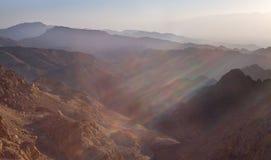 Salida del sol sobre el Mar Rojo Fotografía de archivo