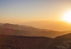 Salida del sol sobre el Mar Rojo Fotografía de archivo libre de regalías