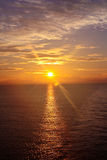 Salida del sol sobre el océano 14 Foto de archivo libre de regalías