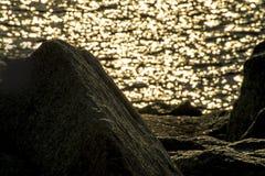 Salida del sol sobre el océano Fotos de archivo libres de regalías