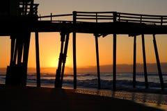Salida del sol sobre el Océano Atlántico Imagen de archivo