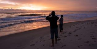 Salida del sol sobre Gold Coast Queensland Australia Fotos de archivo