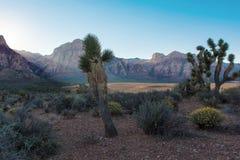 Salida del sol sobre las montañas en el Nevada Fotografía de archivo