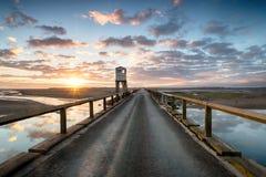 Salida del sol sobre Lindisfarne fotos de archivo libres de regalías