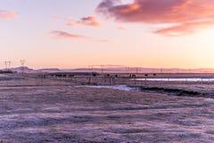 Salida del sol sobre los llanos Imagen de archivo libre de regalías