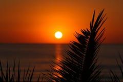 Salida del sol sobre Mallorca Fotos de archivo libres de regalías