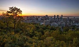 Salida del sol sobre Montreal Fotografía de archivo
