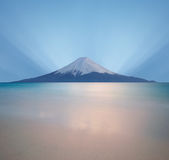 Salida del sol sobre Mt. Fuji Fotografía de archivo