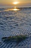 Salida del sol sobre Reculver Imagen de archivo