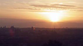 Salida del sol sobre Roma almacen de video