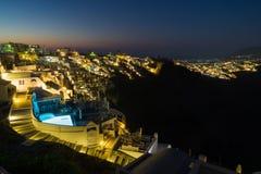 Salida del sol sobre Santorini foto de archivo libre de regalías