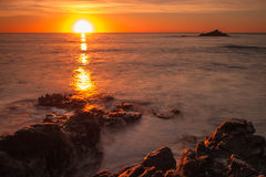Salida del sol sobre South Pacific Fotografía de archivo libre de regalías