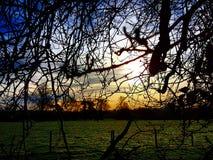Salida del sol, Staffordshire, Reino Unido Imagen de archivo