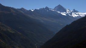 Salida del sol suiza Fotografía de archivo libre de regalías
