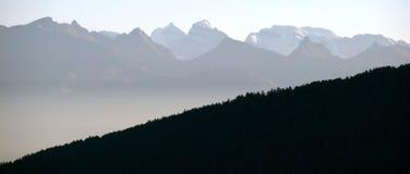 Salida del sol suiza del otoño Fotografía de archivo libre de regalías